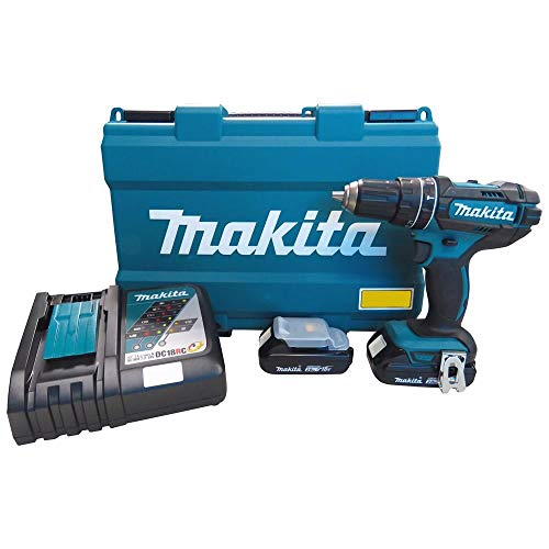 Kit Parafusadeira Furadeira de Impacto Makita com 2 Baterias 18V Profissional com Maleta Brocas Bits e Acessorios Bivolt