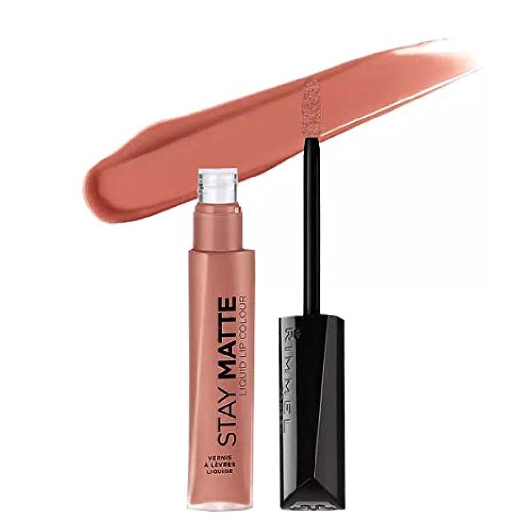 路面電車呼びかける採用する(6 Pack) RIMMEL LONDON Stay Matte Liquid Lip Color - Moca (並行輸入品)