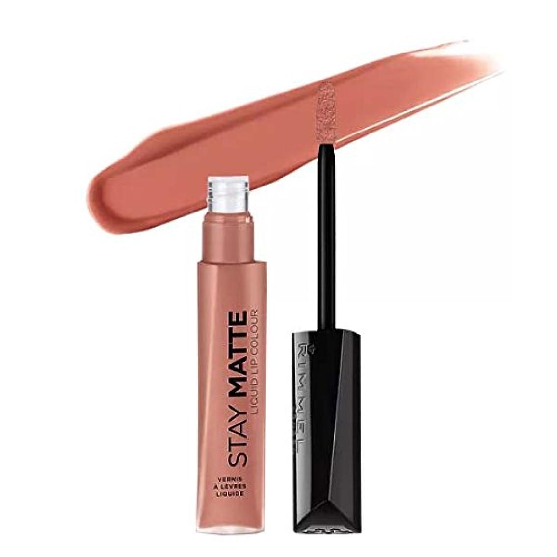 キリマンジャロバッジ黙認する(3 Pack) RIMMEL LONDON Stay Matte Liquid Lip Color - Moca (並行輸入品)