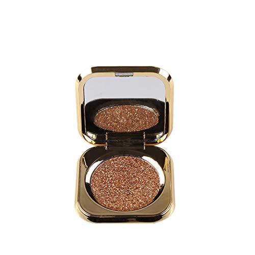 Nourich Mat chatoyante Palette de maquillage imperméable à l'eau Maquillage facial de sable de flash pour la cosmétologie d'ombre d'oeil,cosmétique scintillement Matte Ombre à paupières (04#)
