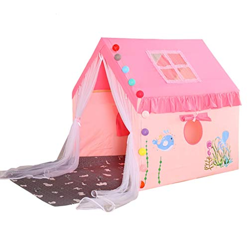 Kid Tent Indoor Kids Tent with 2m Cotton Pad, Family Boy and Girl Private Play House Children's Castle, Easy to Install, The Best Gift, 100x126x120cm (Color : Style 4)