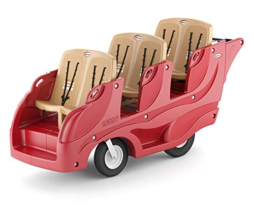 Find Bargain Gaggle Parade 6 Multi-Passenger Buggy Stroller with Soft-Stop Brake (Red/Tan))