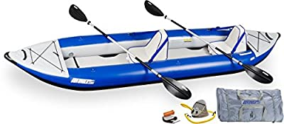 420XK_D Sea Eagle Explorer Inflatable Kayak with Deluxe Accessory Package, 14' by SeaEagle