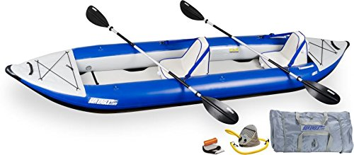 Discover Bargain Sea Eagle Explorer Inflatable Kayak with Deluxe Accessory Package, 14'