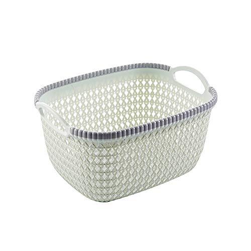 Mamum Panier de Rangement - Caisse de Débris de Cosmétiques de Cuisine à laver panier à fruits de Boîte de Finition de Bureau de Panier de Rangement en Plastique de bureau (Vert)