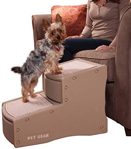 Pet Gear Easy Step II Escalera para Mascota de 2 escalones para Gatos y Perros de hasta 150 Libras