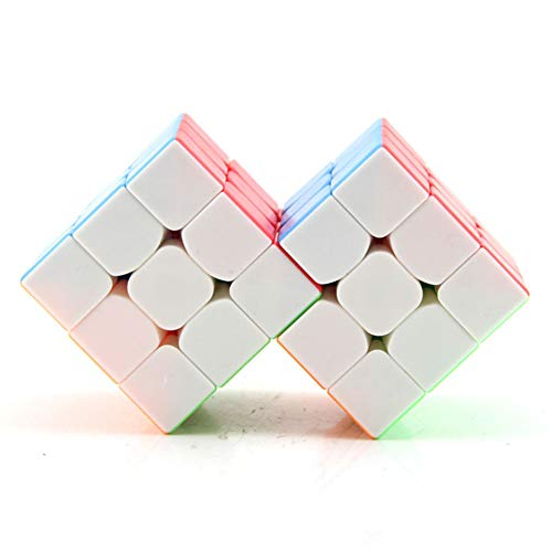 Rubik Cube 3X3X3 Siamese Bundle Smooth Speed Rubik Cube Puzzle Juego Profesional...
