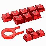 Geekria QuickFit Gaming Keycaps - Juego mecánico (12 teclas), incluye extractor de llaves, compatible con teclado mecánico Cherry Mx Switch (rojo)