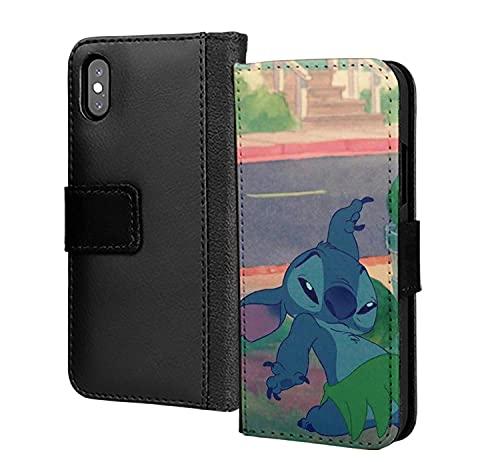 Snitch lindo baile dibujos animados amor pu cuero cartera en tarjeta teléfono caso cubierta para iPhone 12 pro