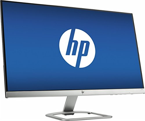 HP 27' Widescreen IPS LED Flat-panel HD Monitor, 1920x1080 at 60Hz, 7ms response time, 178 degrees horizontal and vertical viewing angles, 10,000,000:1 dynamic contrast ratio, HDMI