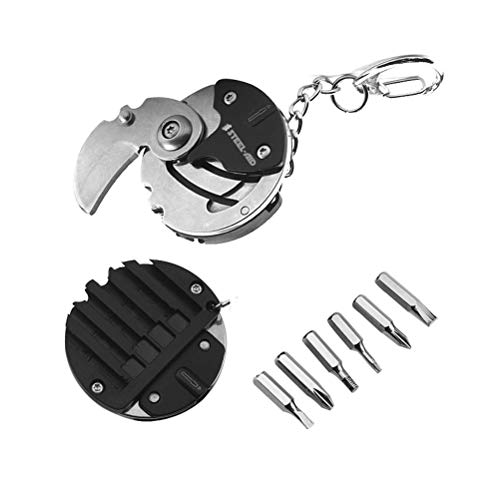 2 in 1 Coin shaped knife with Multi Tool Small Screwdriver Set Father's Day Gifts Under 7 Dollars