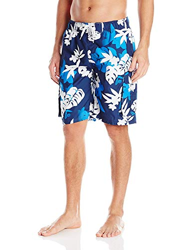 Kanu Surf Men's Echelon Swim Trunks (Regular & Extended Sizes), Voyage Navy, Large