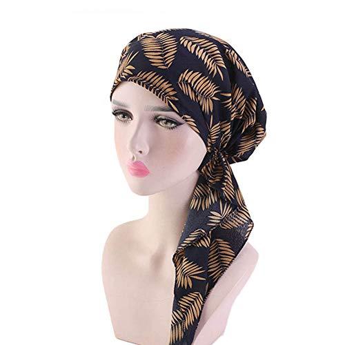 Casue Vintage Katoenen hoofddoek Pre gebonden Bandana Turban chemo hoofddoek slaap Turban Headwear