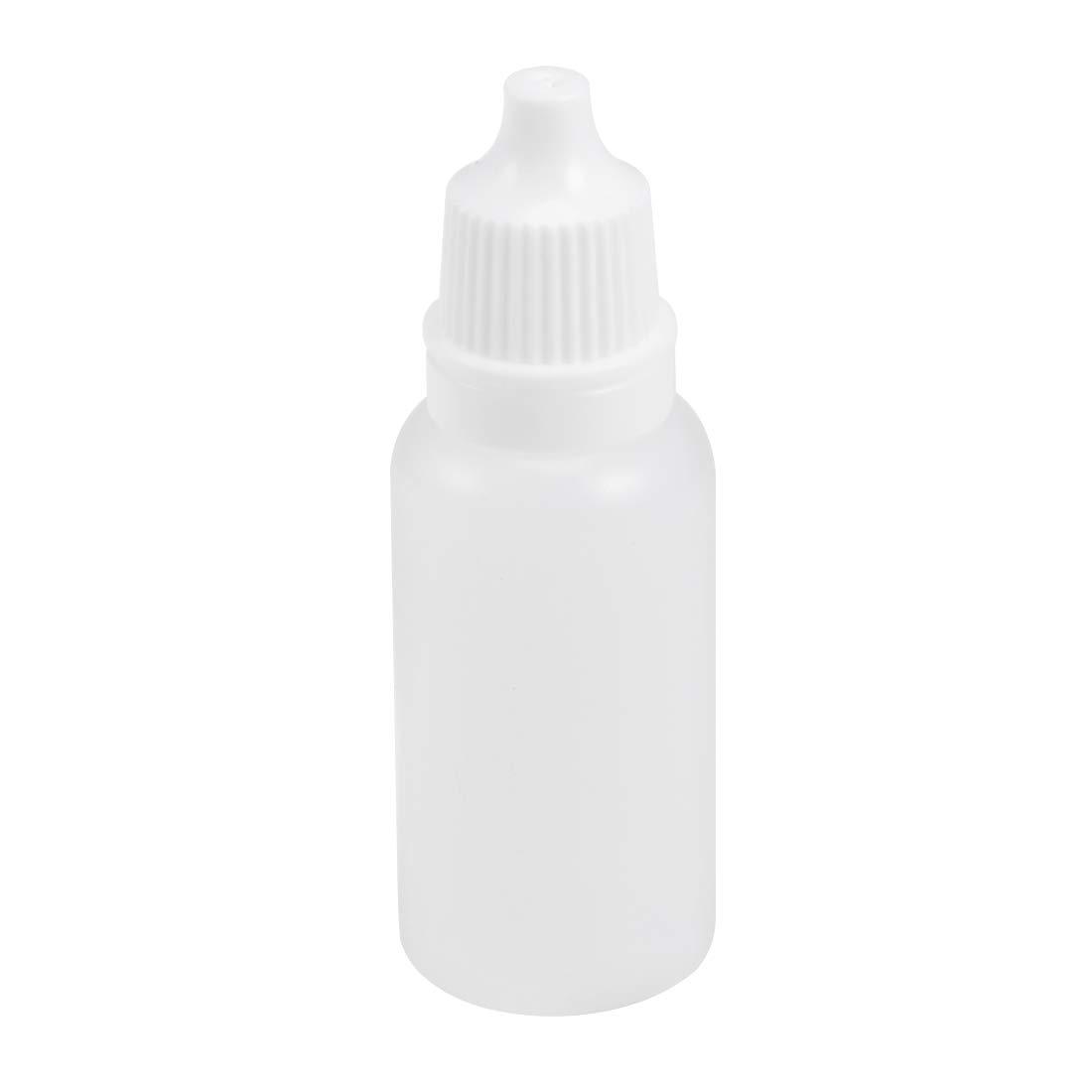 uxcell Plastic Dropper Bottle, 15ml/0.5oz Small Mouth Drop Bottles Empty Squeezable Eye Liquid Dropper Bottle 50pcs