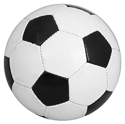 Balón de Fútbol Tradicional de Cuero de Poliuretano, Talla 5, Color Blanco y Negro