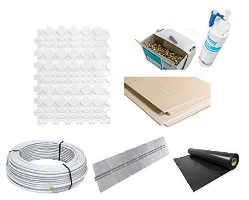 Fußbodenheizung Trockenbau Paket 17 m² - Knauf Fertigteil-Trockenestrich Platte