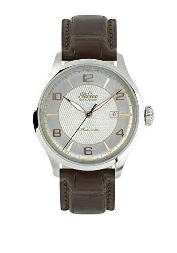 Herrenuhr Perseo Buccaneer 11335 Schweizer Uhrwerk ETA Schwarz Leder Braun