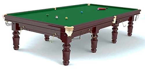 Unbekannt Snookertisch ROBERTSON Tournament 12 ft. Tourniergröße - aus Ahorn Massivholz, mahagonifarben gebeizt,