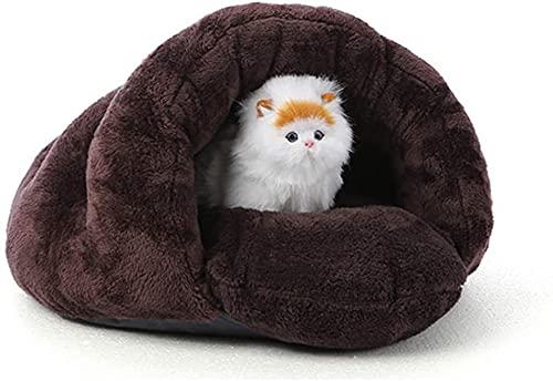 Cama para Mascotas para Gatos Perros Nido Suave Kennel Cama Casa Casa De La Cueva Bolsa De Dormir Mat Pad Pad Tent Mascotas Invierno Cálidas Y Acogedoras 2 Tamaño, A, 60 * 50 * 40 Cm