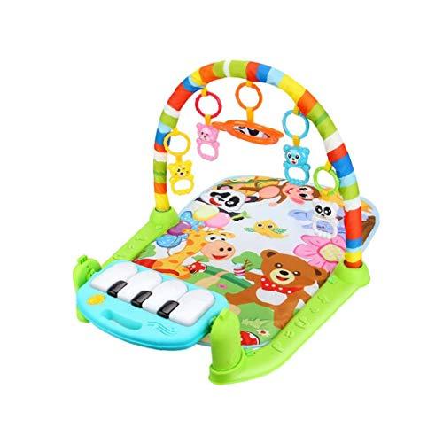 lujiaoshout Baby-Game Pad Musik-Tätigkeits-Gymnastik-Spieldecke Kriechende Matte Bildung Decke Activity Fitness Spielzeug Kick-Piano-Licht-Ton-Baby-Regenbogen-Farb 1 Set