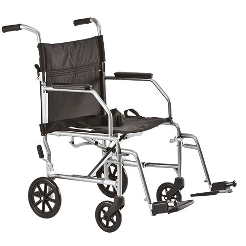 Medline Steel Transport Wheelchair with 19