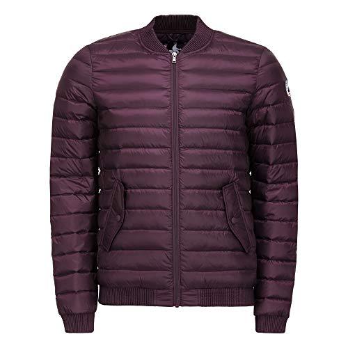JOTT heren donsjas winterjas Blouson Jordan paars violet met opstaande kraag Thermo warmte-isolatie waterdicht winddicht (maat M)