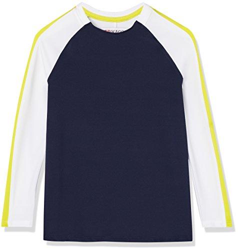 RED WAGON Jungen Sport Sweatshirt mit Colour Block-Design, Blau (Navy/White/Citrine), 128 (Herstellergröße: 8 Jahre)