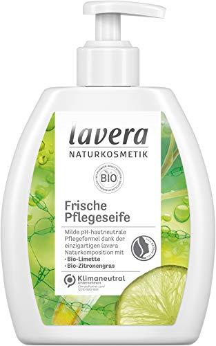lavera Frische Pflegeseife • Bio-Limette & Bio-Zitronengras • milde Reinigung • frische Duftnote • vegan • pH-hautneutral • 6er Pack (6x250ml) 110243