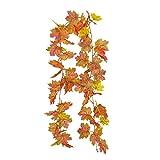 Simulación de Navidad Artificial Hojas de otoño Ratán de Hoja de Arce, Ratán Colgante, Ramas de Navidad Artificiales, Guirnalda de Ramas Colgantes para Puerta de Entrada, Decoración de imitación FES