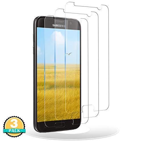 RIIMUHIR Panzerglas Schutzfolie kompatibel mit Samsung Galaxy S7,3 Stück Gehärtetes Glas Displayschutzfolie Samsung S7,9H Härte, HD Ultra Klar, Anti-Öl Displayschutz Folie für S7