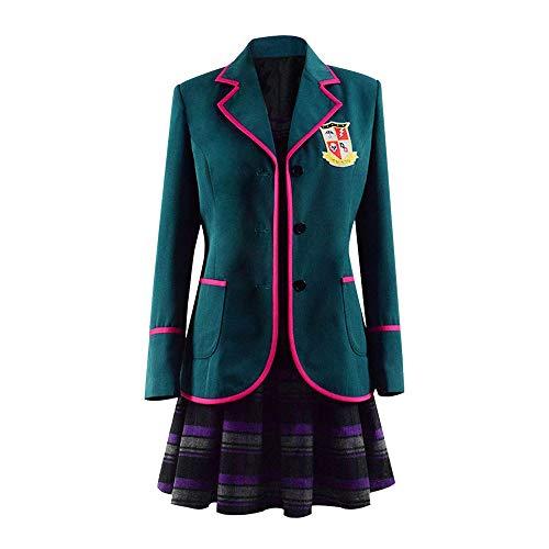 Updayday Umbrella Academy Cosplay Disfraz Halloween nmero Cinco Uniforme Escolar Cosplay Vestido Chaqueta Disfraz Conjunto Completo Chaqueta para Mujeres nias