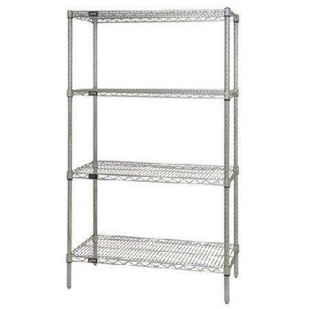 "Quantum H/D 63""H 4-Shelf Wire Shelving Kit"