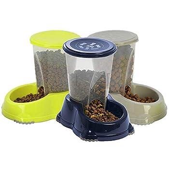 CatCentre® Distributeur automatique de nourriture sèche pour chat Bleu foncé 1,5 l
