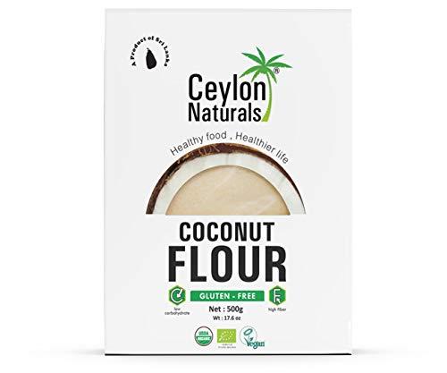 Ceylon Naturals Organic Coconut Flour - Gluten Free, 1.1lb