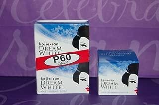 Lot of 3 Kojie San Dream White Moisturizer Face Cream 30g and 2 65 Gram Soaps