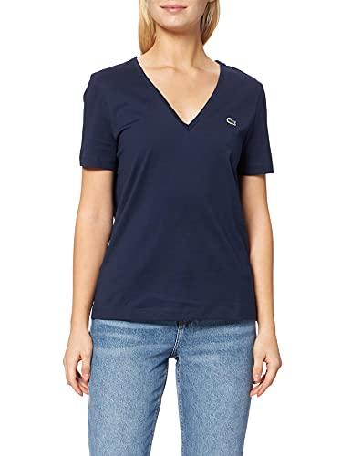 Lacoste TF8392 Tee-Shirt, Marine, 40 Femme