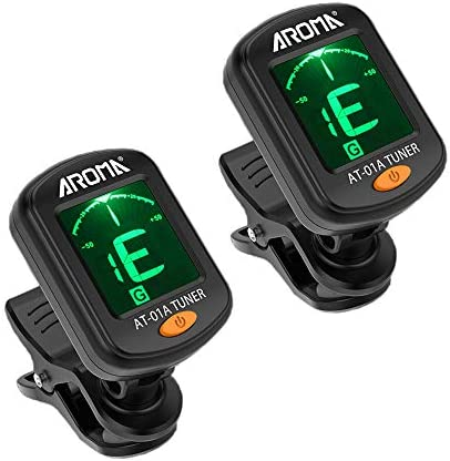 Meeland Guitar tuner 2 PACK Clip On Tuner for Guitar Bass Violin ukulele Auto Power Off One product image