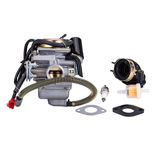 RipengPI PD24J Carburador para scooter de motor GY6 de 4 tiempos, 125 cc, 150 cc, 152QMI 157QMJ
