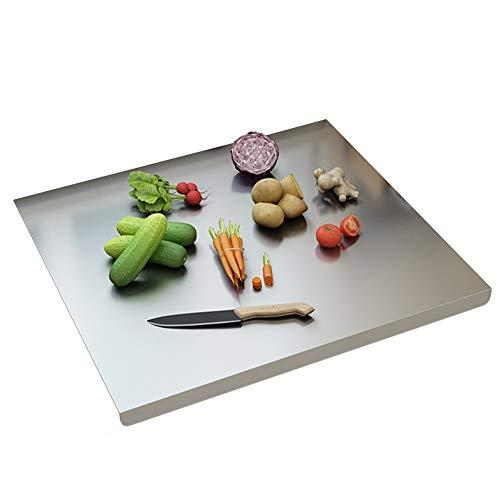WWWANG 580 mm de Acero Inoxidable Encimera de Ahorro de preparación en la Cocina del Protector de la Junta de Cortar Ancha Almacenamiento pequeño, práctico y portátil