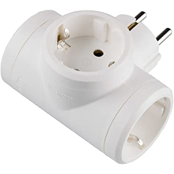 Legrand, 050662 Adaptadores - Adaptador triple con entrada lateral, enchufe en color blanco, potencia máxima de este ladron es de 3680 W, 10/16 A a 230 Voltios: Amazon.es: Bricolaje y herramientas