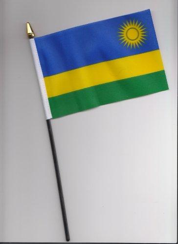 Ruanda Hand Flagge 25cm