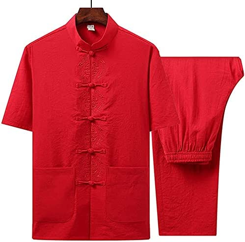 ZHANGWW Popular popular Traditional Tang Limited price sale Kung Fu Summe Uniform Short Sleeve Mens