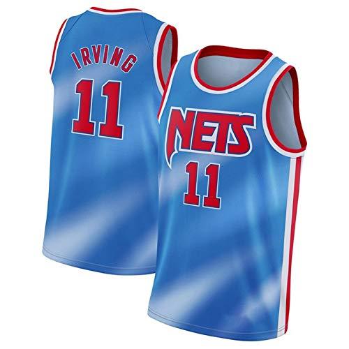 CLKJ Camiseta de baloncesto # 7 Kevin Durant y 11 Irving de secado rápido para hombre # 11 B-S