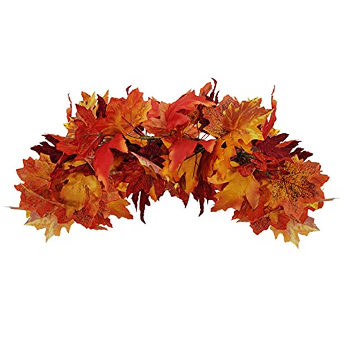 Multicolor Maple Leaf Horizontal Swag. lovely on a front door or porch.