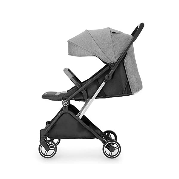 Kinderkraft Lightweight Stroller INDY, Baby Pushchair, Travel Buggy, Easy Folding, Ajustable Backrest to Lying Position, with Accessories, Rain Cover, Footmuff, from Birth to 3.5 Years, 0-15 kg, Gray kk KinderKraft QUICK FOLDING AND UNFOLDING - INDY is equipped with a mechanism that allows you to fold and unfold the stroller with one hand. Thanks to this feature you can easily operate the stroller, even if you are holding your Toddler at the same time INTINITELY ADJUSTABLE BACKREST - A walk is a great opportunity for your baby to observe the world, discover new places and enjoy naps in the fresh air. That's why INDY is equipped with an infinitely adjustable backrest so that the stroller can support your Toddler's development at all times MANOEUVRABLE WHEELS - When you use the stroller every day, you often have to move in the crowd. With INDY it's not a problem. Lightweight and extremely manoeuvrable wheels made of puncture-resistant EVA foam will make pushing the stroller a pleasure, and additional cushioning will protect your baby from shocks 7