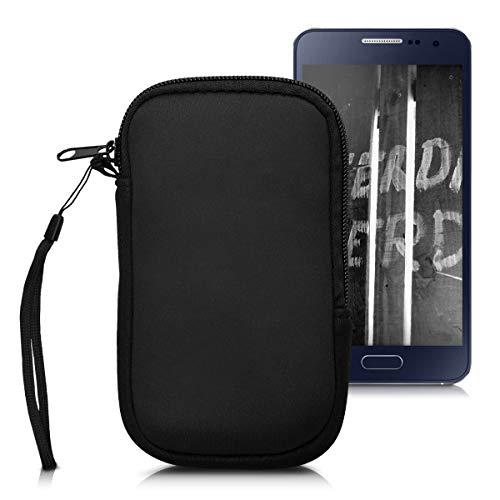 """kwmobile Handytasche für Smartphones S - 4,5"""" - Neopren Handy Tasche Hülle Cover Case Schutzhülle Schwarz - 14,4 x 8,3 cm Innenmaße"""
