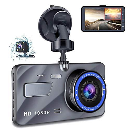 【2020 Nuova Versione】Telecamera per Auto - Doppia Lente Dashcam Full HD 1080P Obiettivo Grandangolare di 170 Gradi con registrazione ad Anello/Monitor di Parcheggio/Rilevamento Movimento/G-Sensor