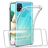 SMYTU Samsung Galaxy A71 Case,Crystal Clear Shockproof Slim Protective Case with 4 Corners Protection Cushion Anti-Scratch Transparent Cover for Samsung Galaxy A71 -Bumper 02