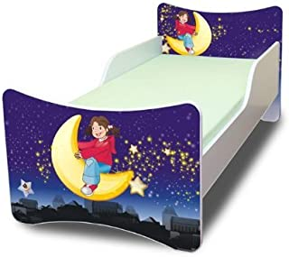 Best For Kids Children s Bed with Foam Mattress with TUV CERTIFIED 90x200 DESIGNS  Moon