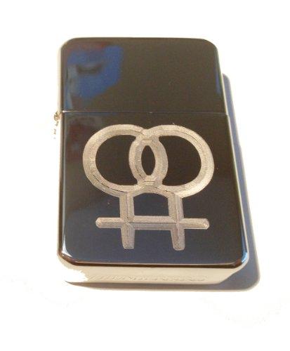 Vector KGM Thunderbird Custom Lighter - GAY Lesbian Pride Women Woman Symbol Logo Silver High Polish Chrome Rare!